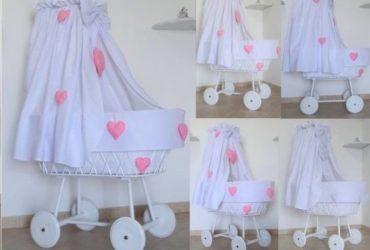 Culle in vimini, fiocchi di nascita , cestini porta oggetti