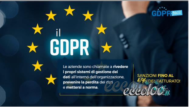 GDPR  ADEGUAMENTO ALLA NORMATIVA SULLA PRIVACY GDPR FACIL PROMOZIONE UT A € 0