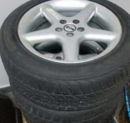 "4 cerchi lega 16"" + 4 pneumatici 205/55R16 M+S"