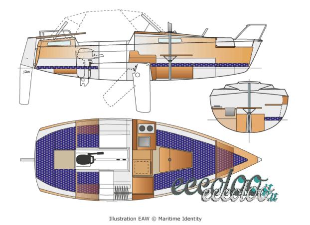 Dufour T7 ideale per chi inizia con la barca a vela. 2 cabine separate, deriva mobile. prezzo affare