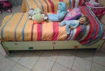 Culla Foppapedretti trasformabile in lettino da ragazzo