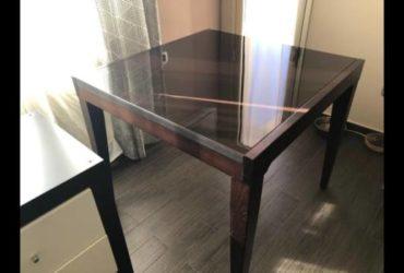 Tavolo allungabile e mobile da salone a 4 scompartimenti