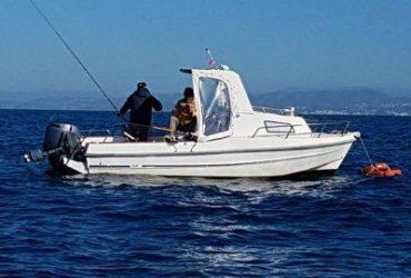 Barca con motore Yamaha F80 e tanti accessori