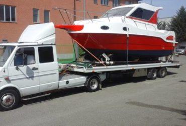 Trasporto di imbarcazioni, gommoni, camper, roulotte e auto