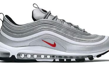€.80 – Nike Air Max 97 OG QS Originals Metallic Silver Varsity