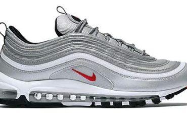 €.80 – Nike Air Max 97 OG QS Originals Metallic Silver Varsity