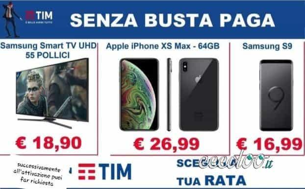 Vuoi un cellulare o tv senza busta paga?