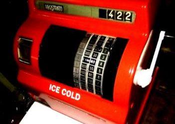 Registratore di cassa COCA COLA funzionante anni 70