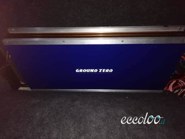 Amplificatori Ground Zero 2800w. Sono due a €400,00