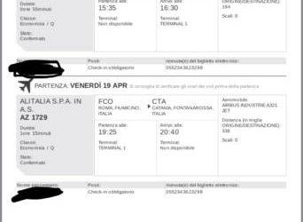 Biglietto aereo Andata e ritorno Bologna-Catania