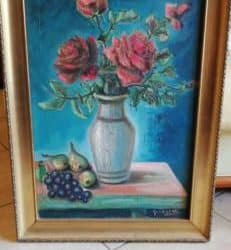 Quadro rose in vaso