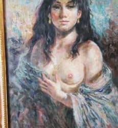 Quadro donna seminuda