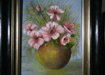Quadro anfora con fiori