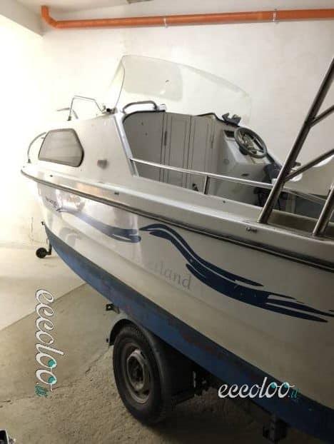 Barca semi cabinato compresa di carrello