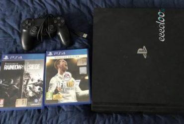 PS4 PRO 1 TB + FIFA 18 + RAINBOW SIX SIEGE. €. 260