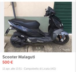 Scooter Malaguti in ottime condizioni da sistemare… €. 600