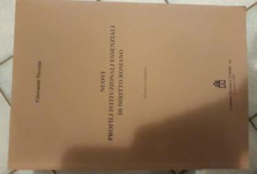 Nuovi profili essenziali e istituzionali di diritto romano