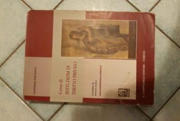 Corso di istituzioni di diritto privato di Massimo Paradiso. €. 25