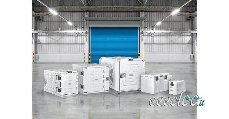 Contenitori refrigeranti alimentari per il trasporto
