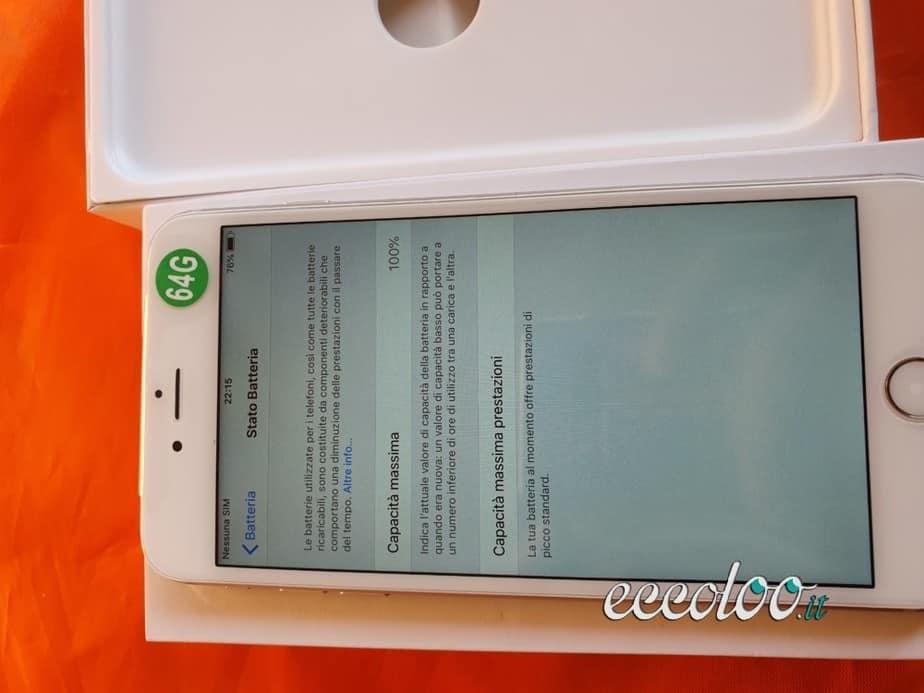 Iphone 6 plus 64gb con cargabateria e cuffia originale