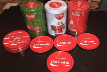 Lattine Nuove Coca Cola + Sottobicchieri
